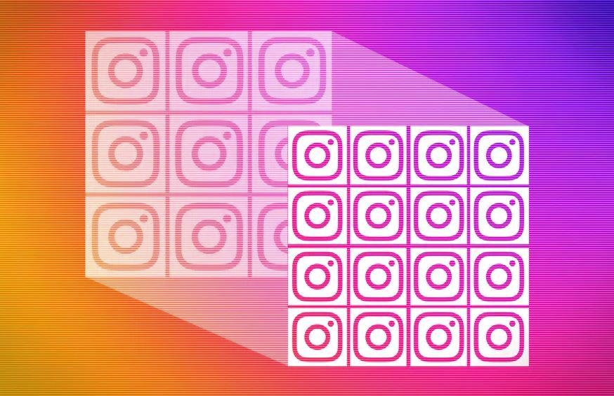 új instagram grid felosztás