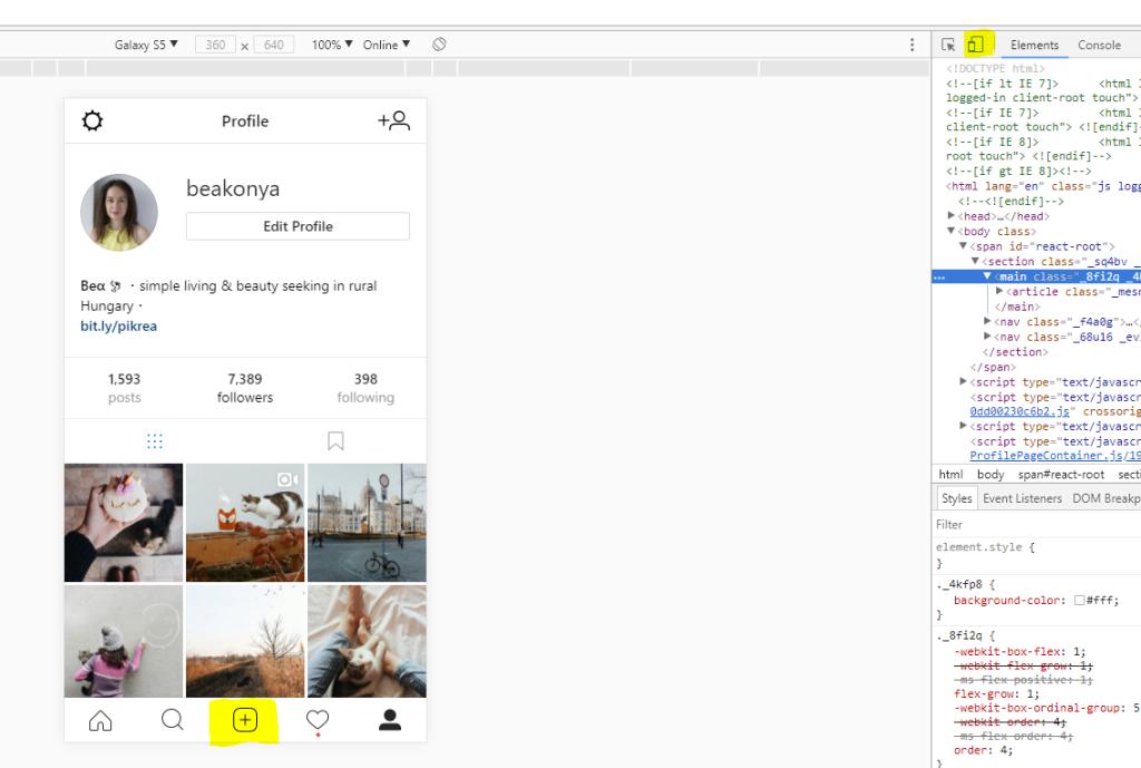 Hogyan lehet számítógépről Instagramra posztolni?