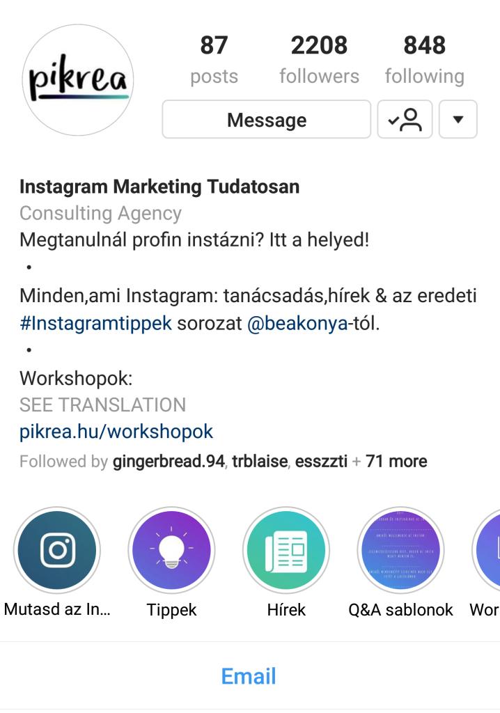 Instagram Story Highlight (fókusz)