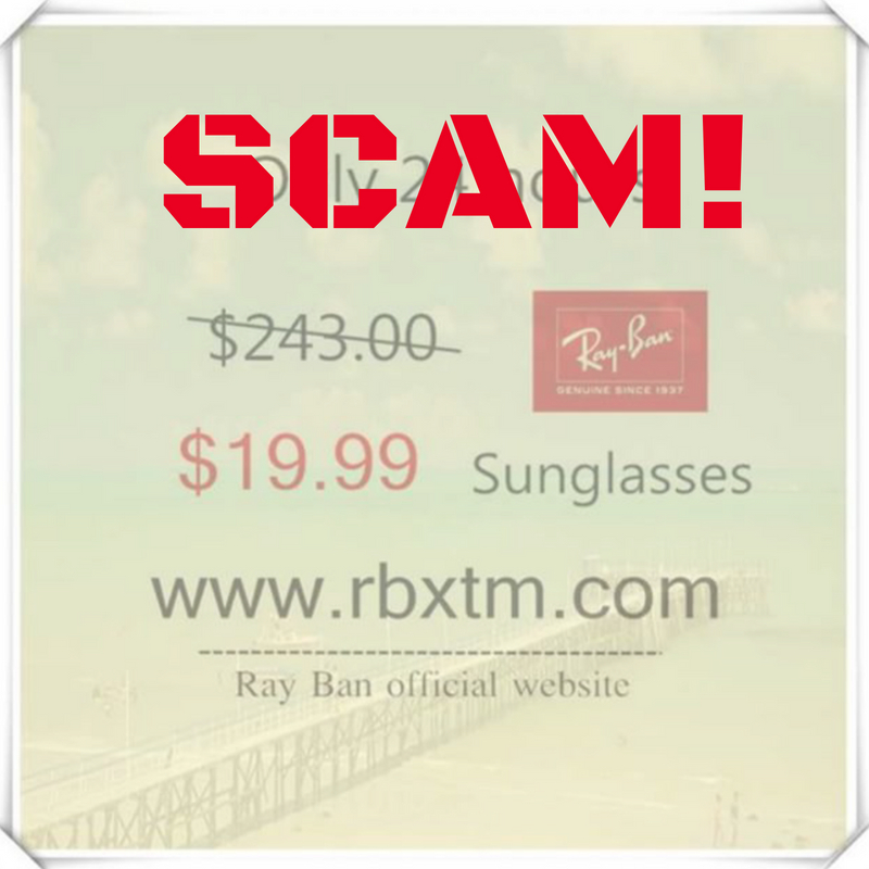rayban scam instagram